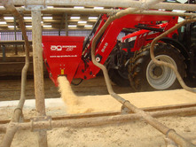 Bulk Sawdust can quickly and efficiently be applied to cow cubicles using a tractor mounted bedding dispenser