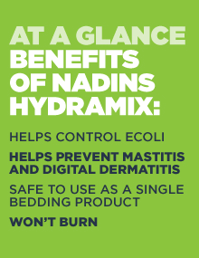 Hydramix is safe to use and has many benefits in keeping cows clean, improving hygene and controlling bacteria
