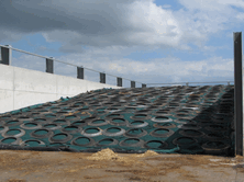 Lorry Tyre SideWalls used over Silostop Nets and Oxygen Barrier Film are a much better way of covering and effectively sealing a silage clamp. Order now for next season