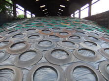 RWN lorry tye sidewalls are the cheapest, and most effective means of applying weight to silage clamp covers, sheets and nets