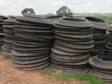 For use on earth bank silage pits or for storage Lorry Tyre SideWalls can be stacked directly onto the banks on the ground or on pallets