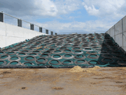 Using lorry tyre sidewalls to cover the clamp and can reduce losses and make better silage