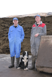 For Steve (left) and Tom Cox, producing consistently good silage is a vital element in getting high yields from their 500 cow herd.