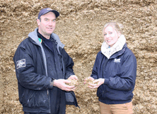 The additional sheeting costs are justified by less crop wastage and higher silage quality according to Jonathon Jackson and Jennifer Hitchman.