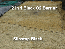 Silostop Oxygen Barrier Sheets consistently out-perform other silage films and sheets with regard to top waste and surface spoilage. In this trial Silostop Black reduced dry matter losses equivalent to saving £0.60 worth of maize silage per square metre of silage surface compared with a 2 in 1 O2 sheeting system.