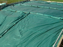 Trial work with different silage covers at Leeds University has shown that Silostop film, nets, covers and gravel bags are more effective than other systems which replace tyres. RWN Lorry Tyre Rings can be used to apply additional weight across the pit where required