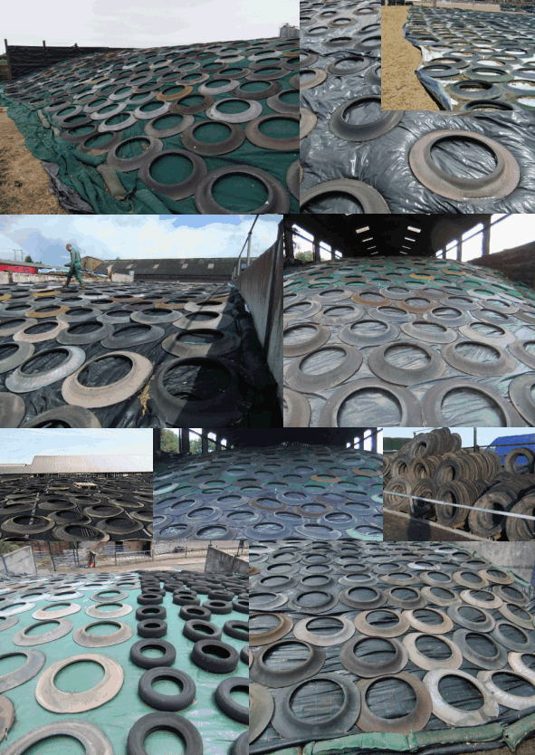 Silage Tyres Farmer Sidewalls Silage Pit Clamps Lorry Tyre Walls